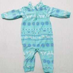5/$25 Carter's baby fuzzy winter pajama onesie6 M